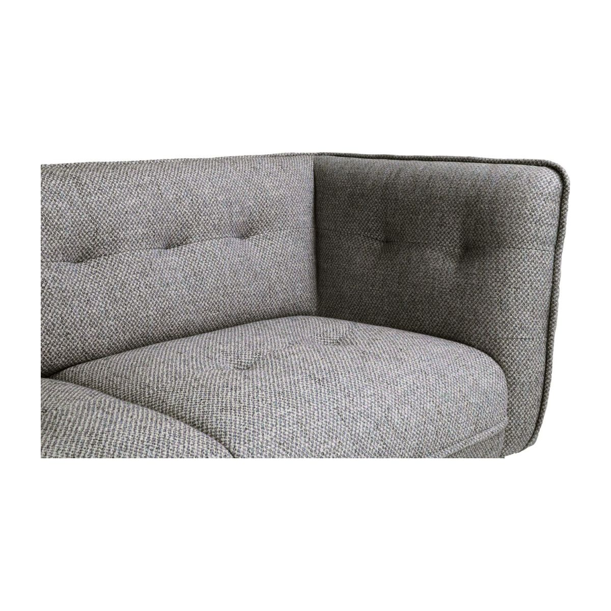 2 seater sofa in Bellagio fabric, night black and oak legs n°7