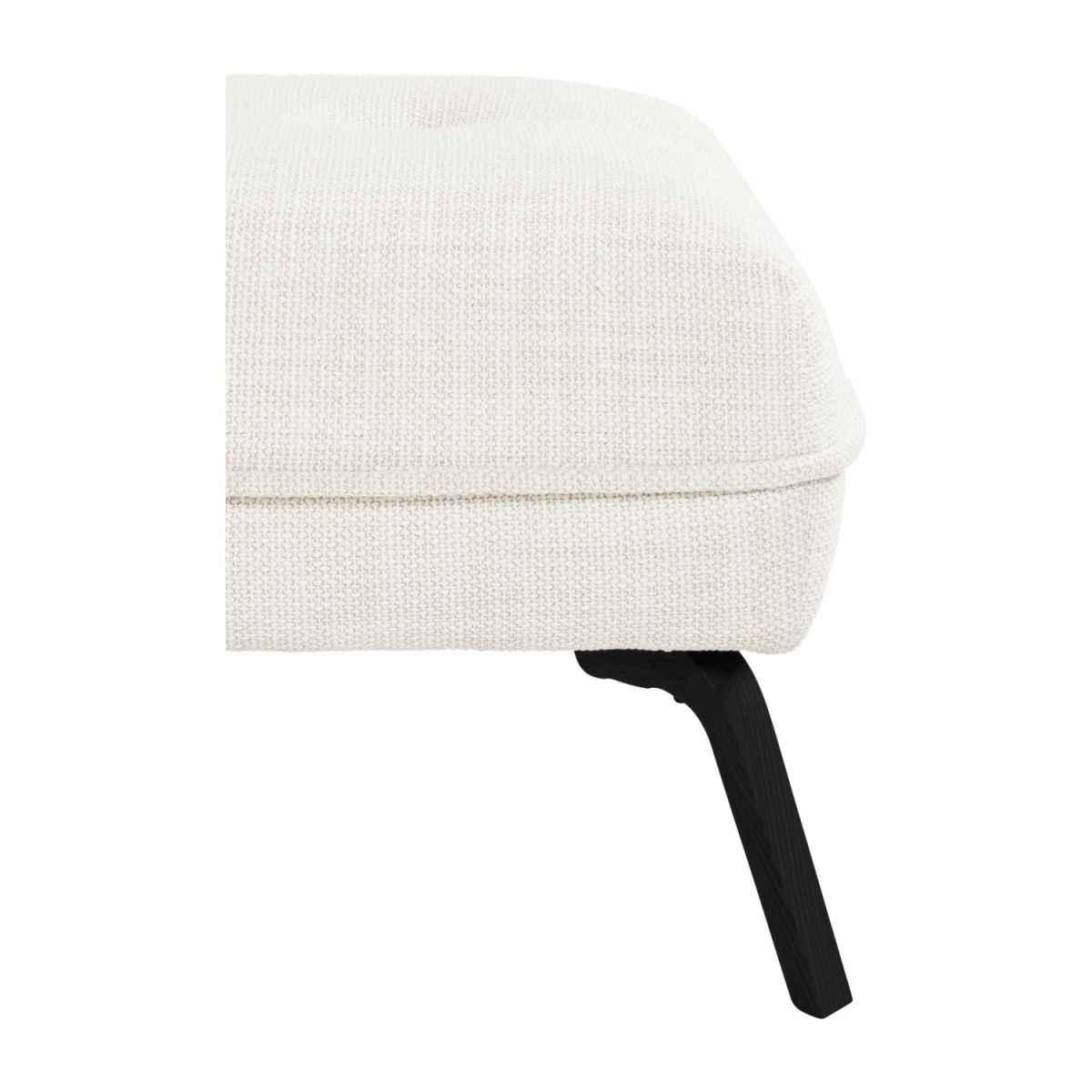 Footstool in Fasoli fabric, snow white and dark legs n°5