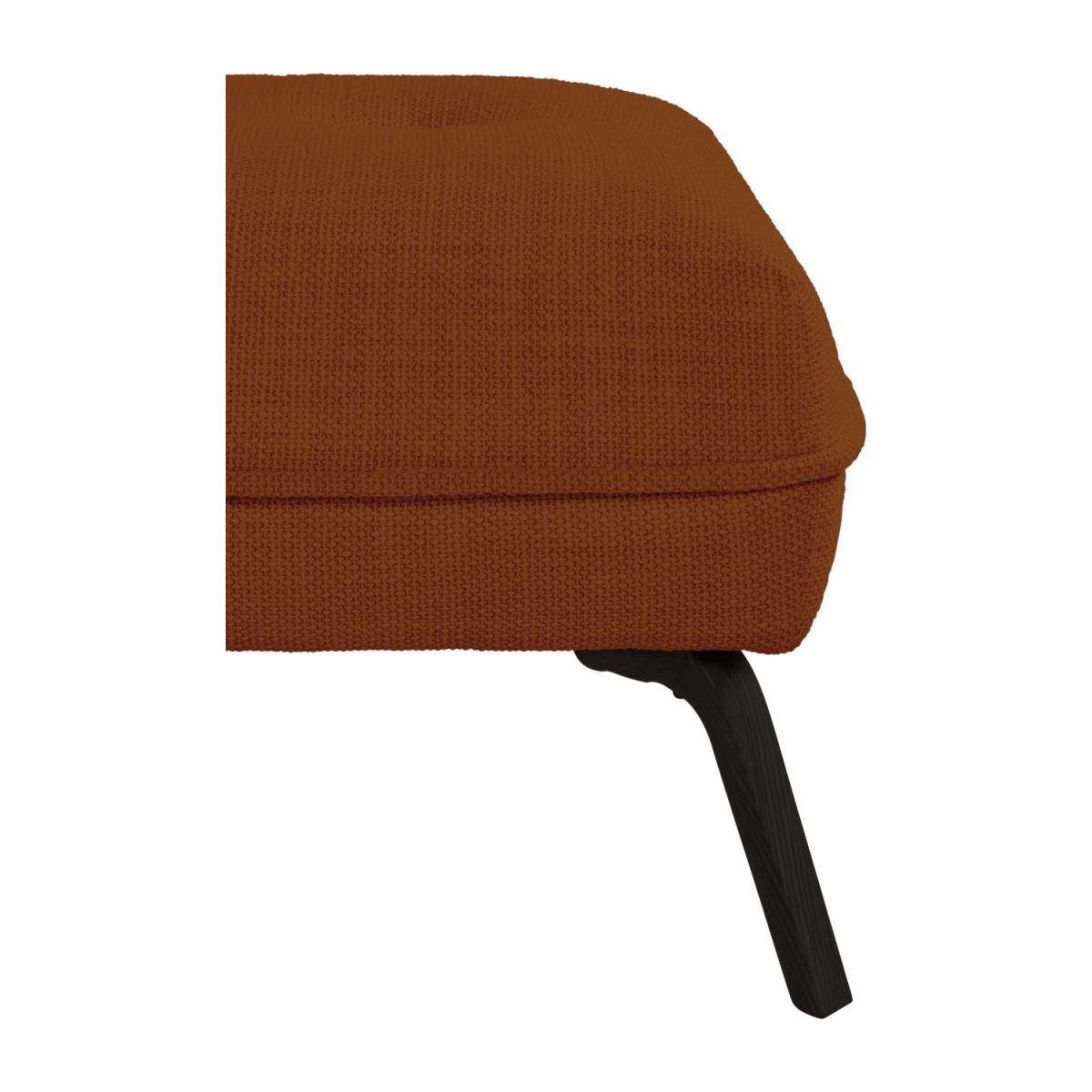 Footstool in Fasoli fabric, warm red rock and dark legs n°5