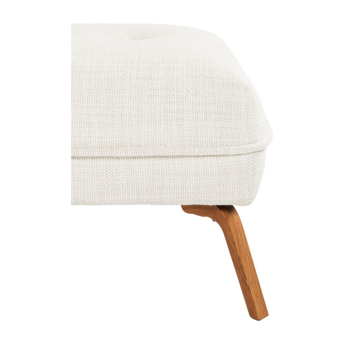 Footstool in Fasoli fabric, snow white and oak legs n°5