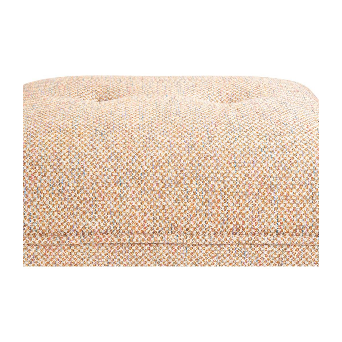 Footstool in Bellagio fabric, passion orange and dark legs n°6