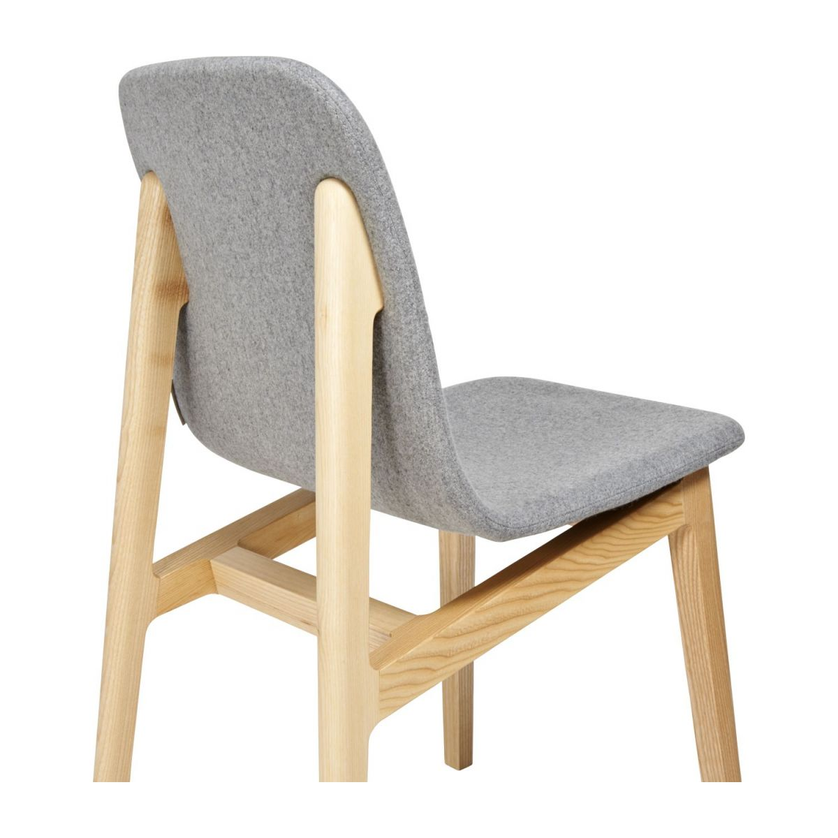 Chair made of ash tree and felt, grey n°7