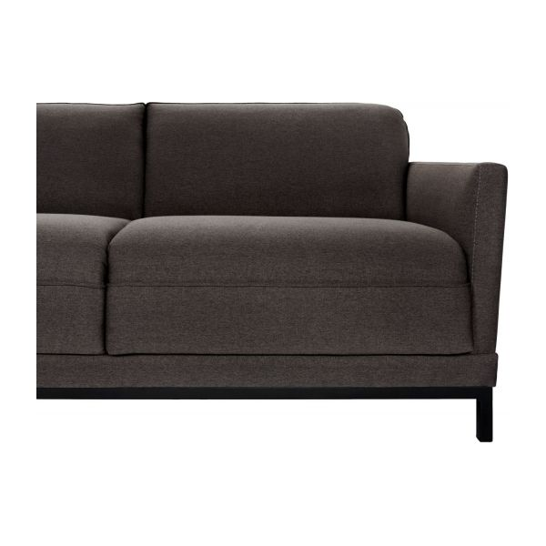 Fabric 3-seater sofa bed, anthracite n°9