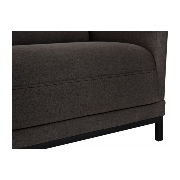 Fabric 3-seater sofa bed, anthracite n°7