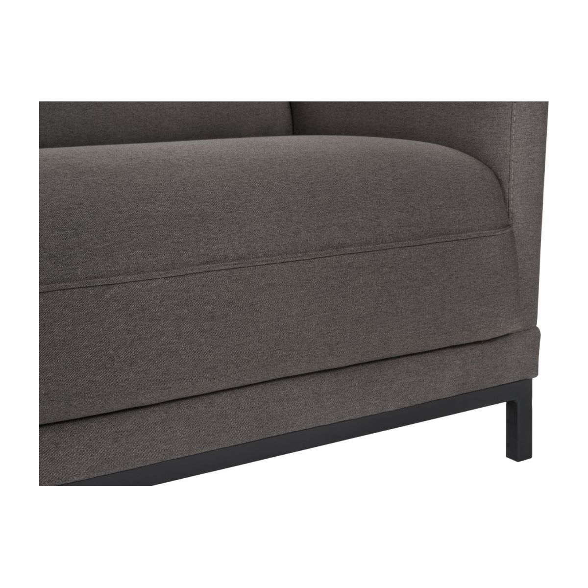 Fabric 3-seater sofa bed, grey n°7