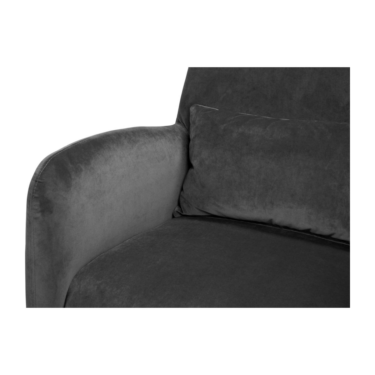 Velvet armchair, grey n°7