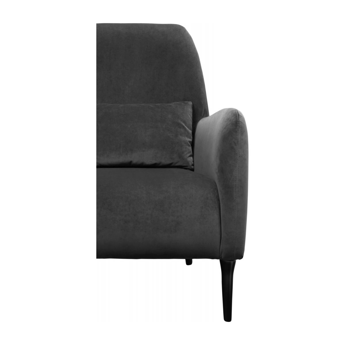 Velvet armchair, grey n°5