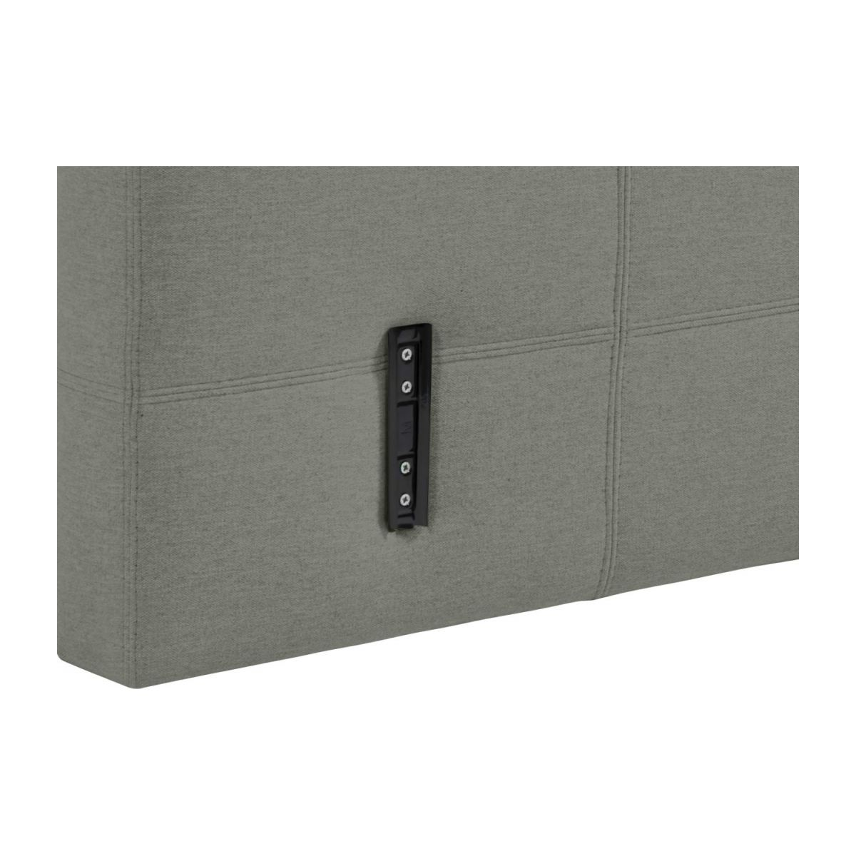 Headboard for 140cm box spring in fabric, mouse-grey n°6