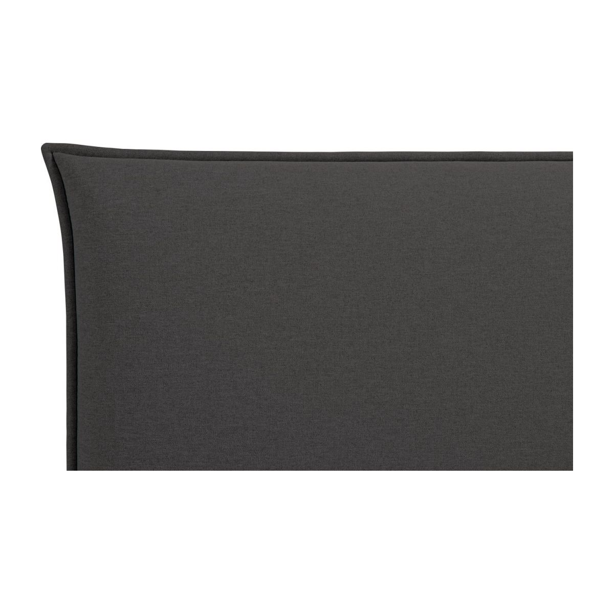 Headboard for 140cm box spring in fabric, anthracite n°4