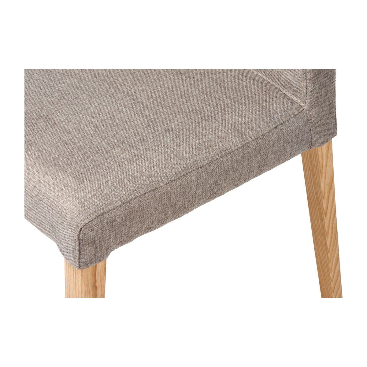 Chair made of fabric, beige with ash legs n°7
