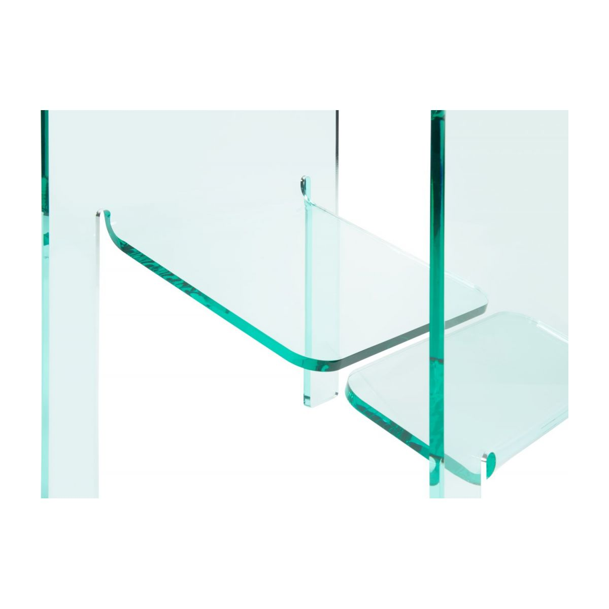 Table d'appoint en acrylique transparente n°7