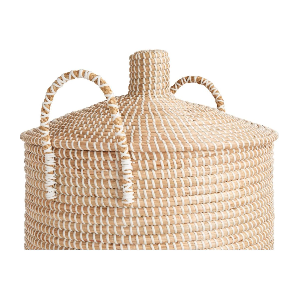 Basket 70cm with cover made of seagrass n°4