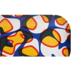 Tray made of melamine 12x25cm, with patterns
