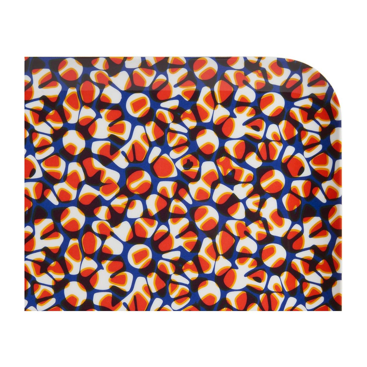 Square tray made of melamine 25x25cm, with patterns n°4