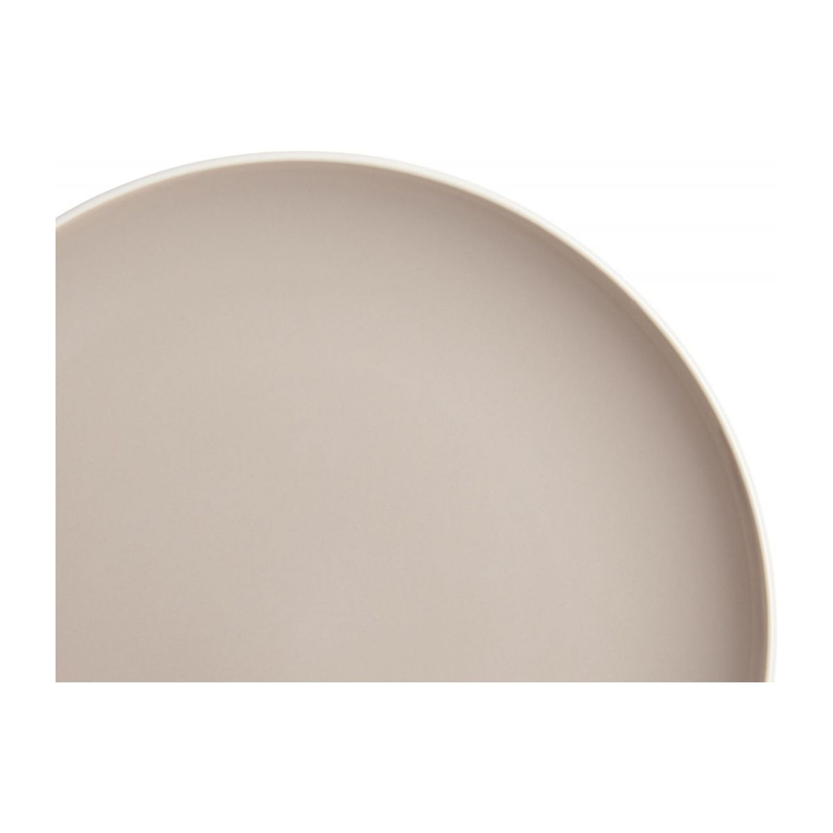 Dessert plate made of sandstone, grey n°3