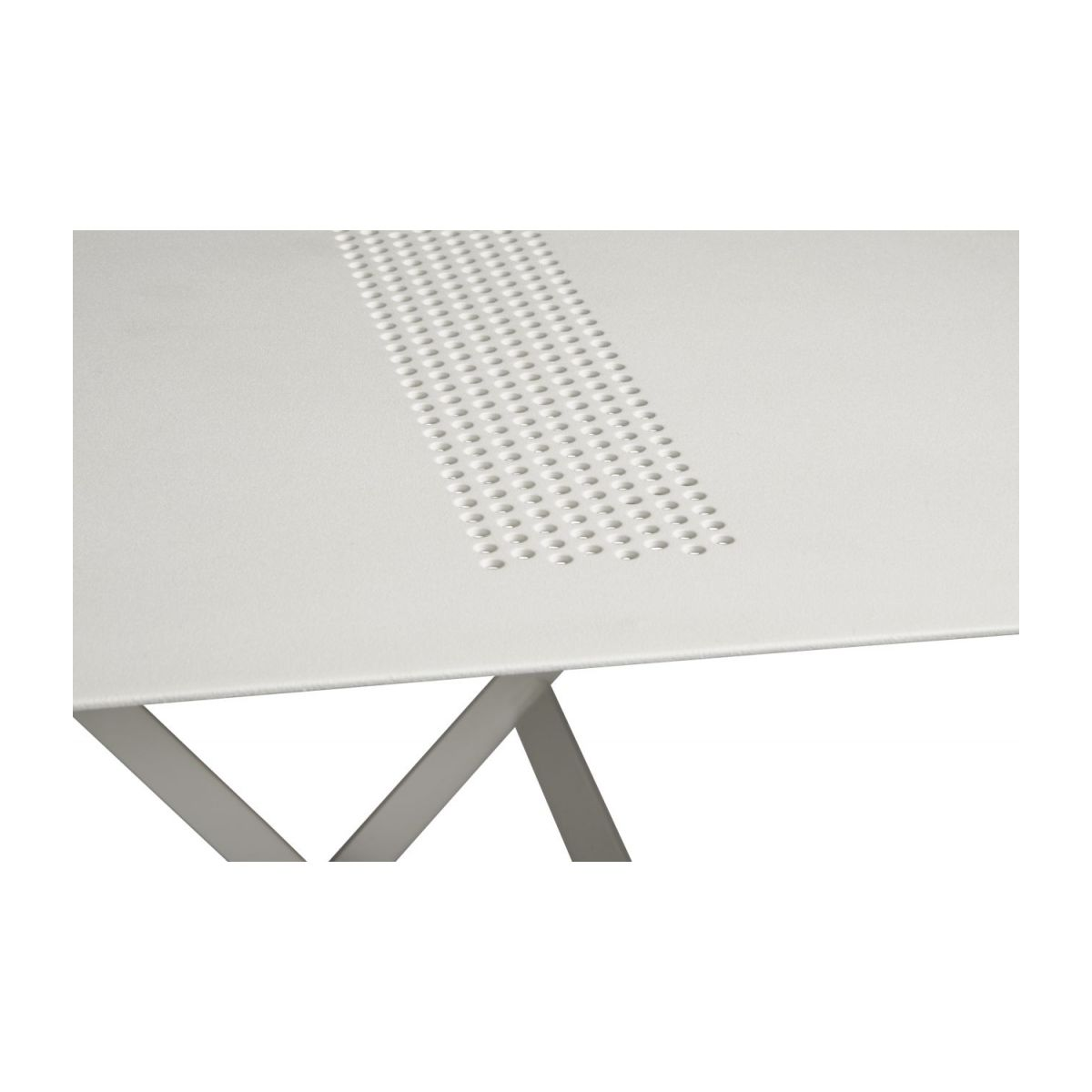 Folding table made of metal, white n°7