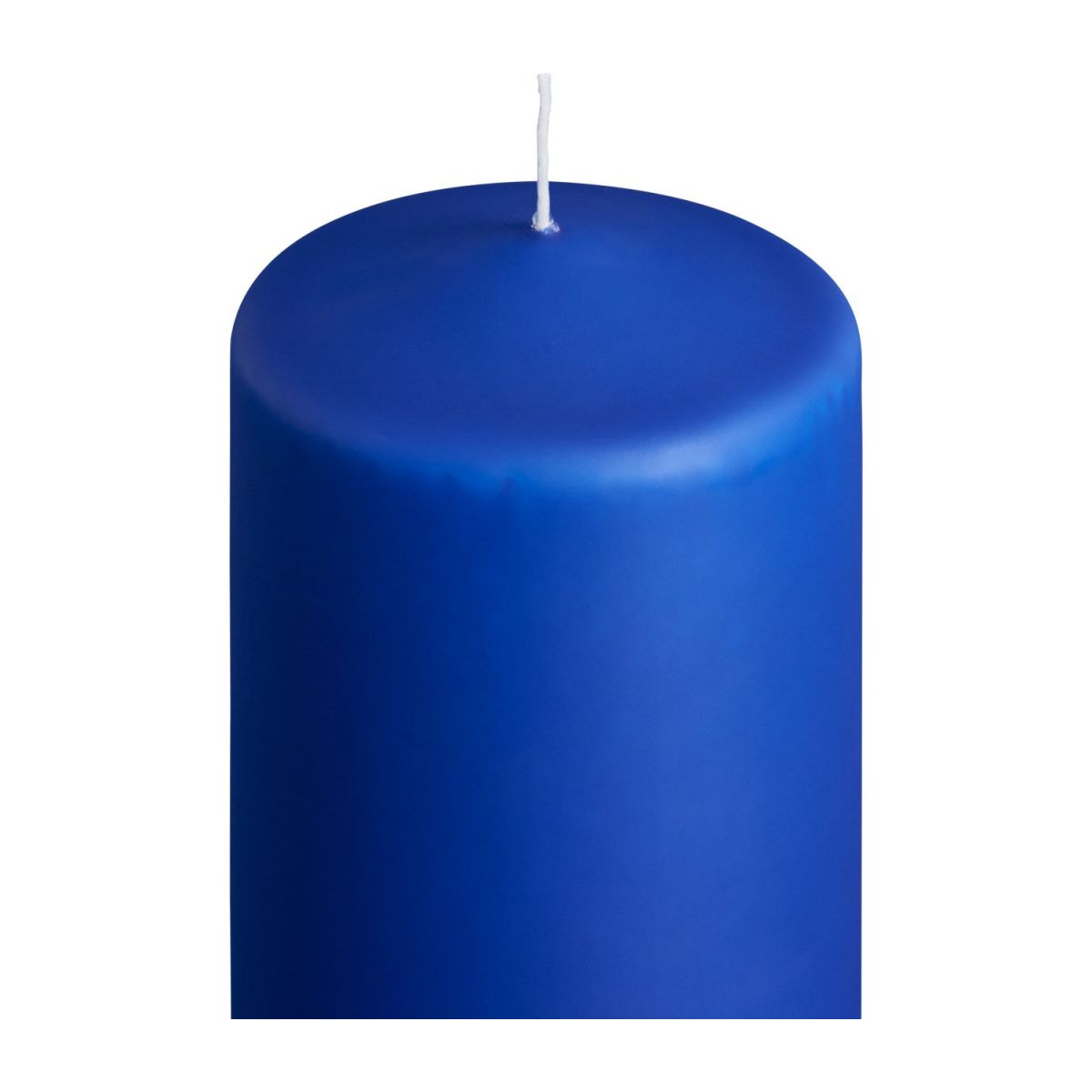 Cylindrical candle 19cm, blue n°2