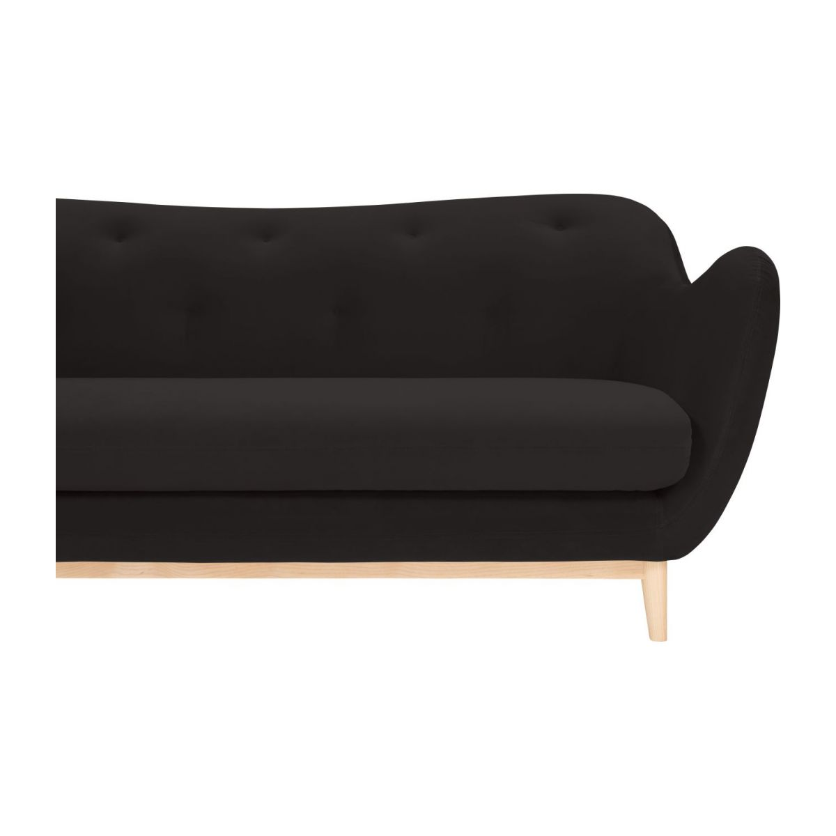 2-seat sofa made of velvet, grey n°6