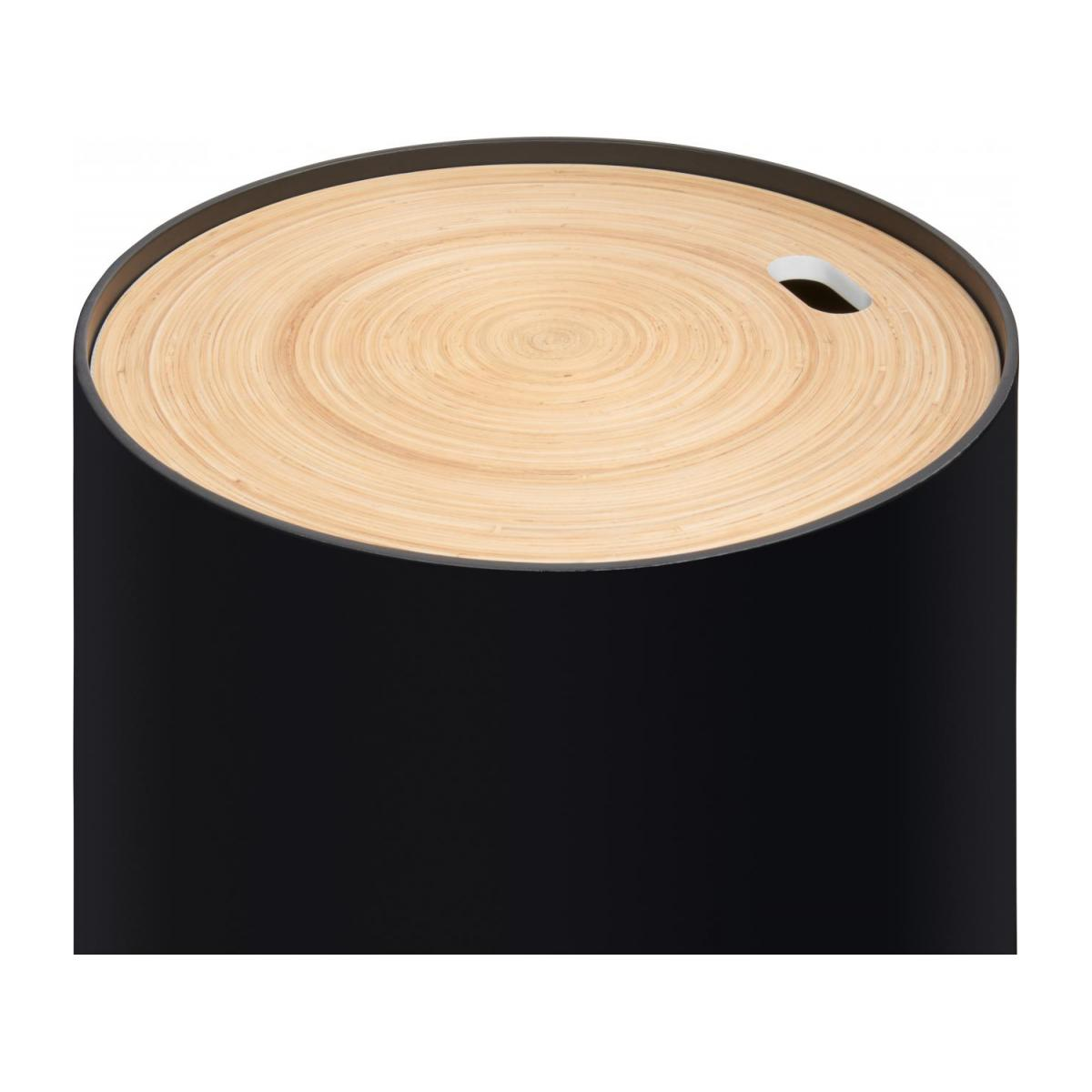 Black bamboo side table 40cm n°4