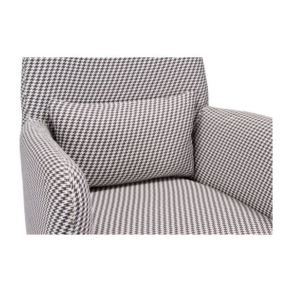 Fabric armchair, Houndstooth pattern n°6