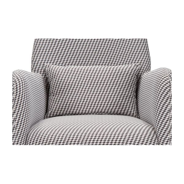 Fabric armchair, Houndstooth pattern n°5