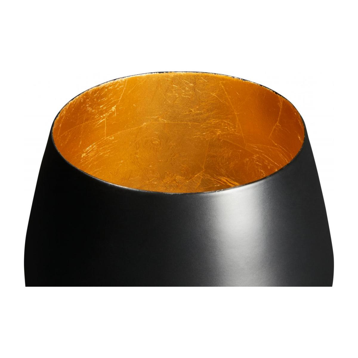 Candle holder made of metal, black and golden n°2