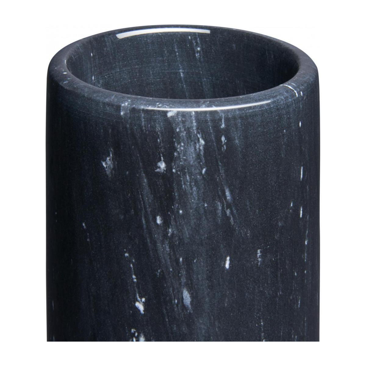 Bathroom tumbler made of marble, black n°2