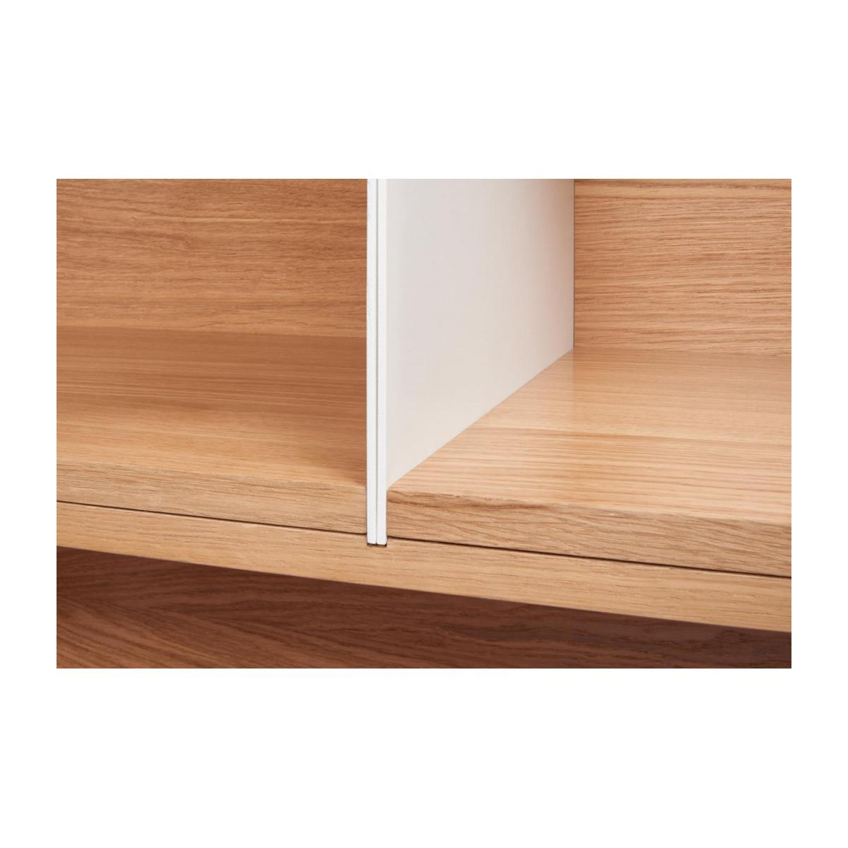 White and oak big closed modular storage rack - Design by Kasch Kasch n°7