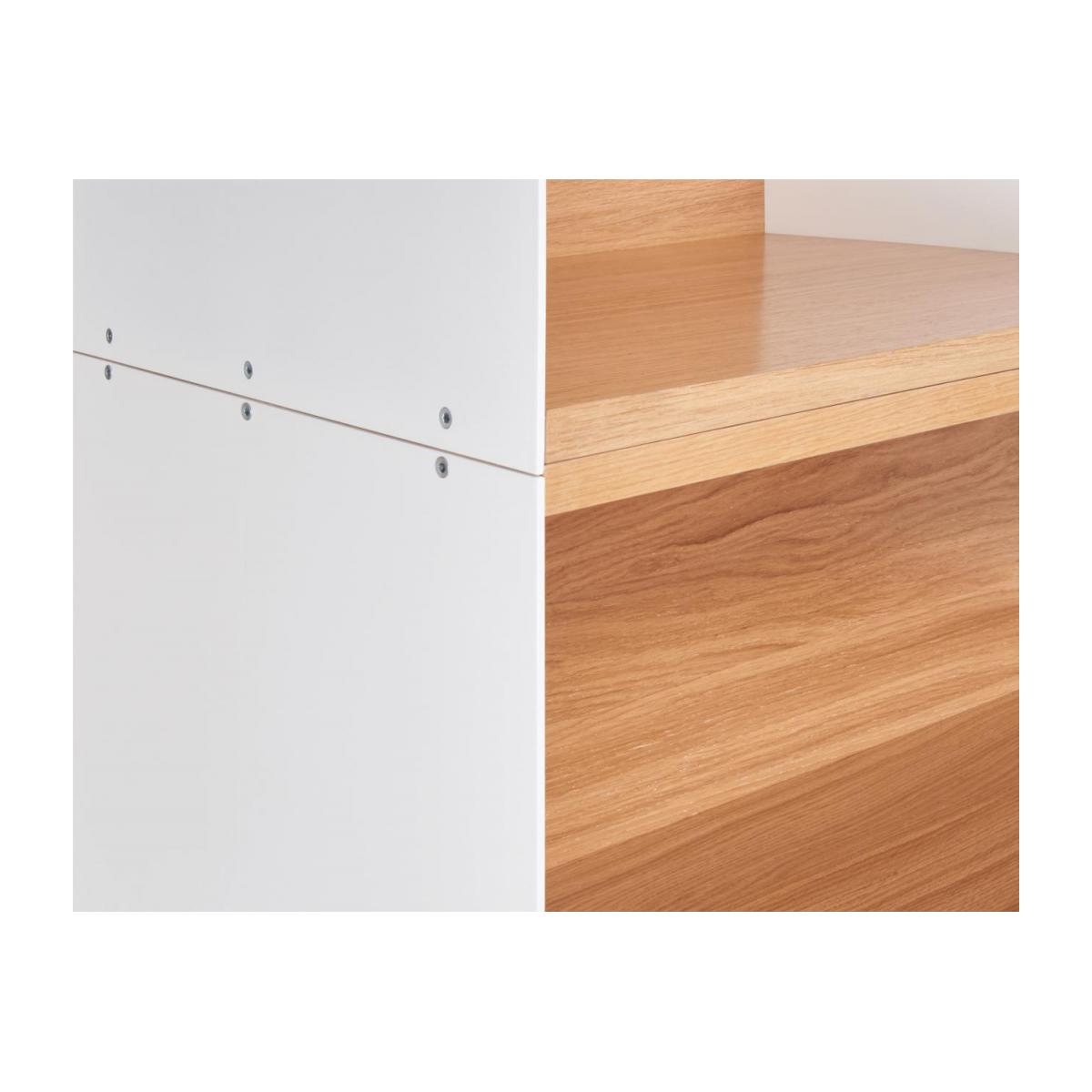 White and oak big closed modular storage rack - Design by Kasch Kasch n°6