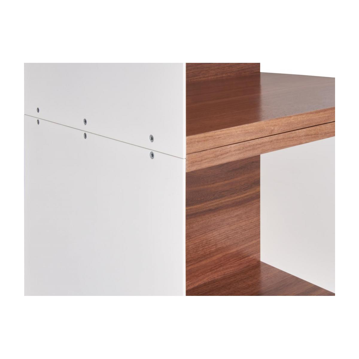 White walnut open modular storage rack - Design by Kasch Kasch n°6