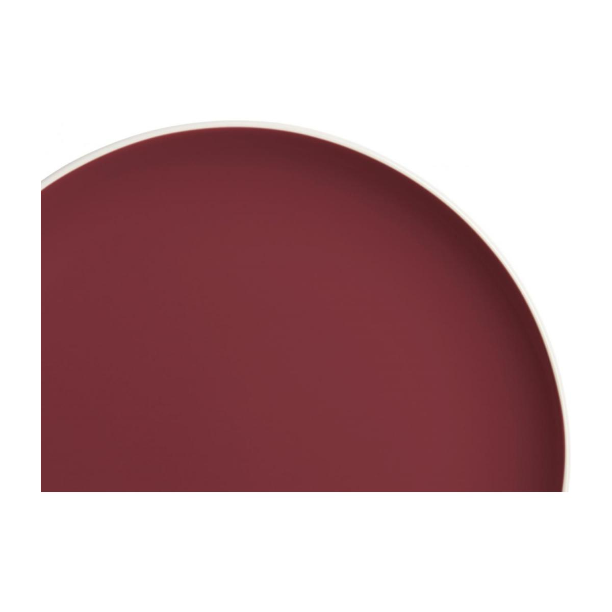 Flat plate made of sandstone, white and burgundy n°3