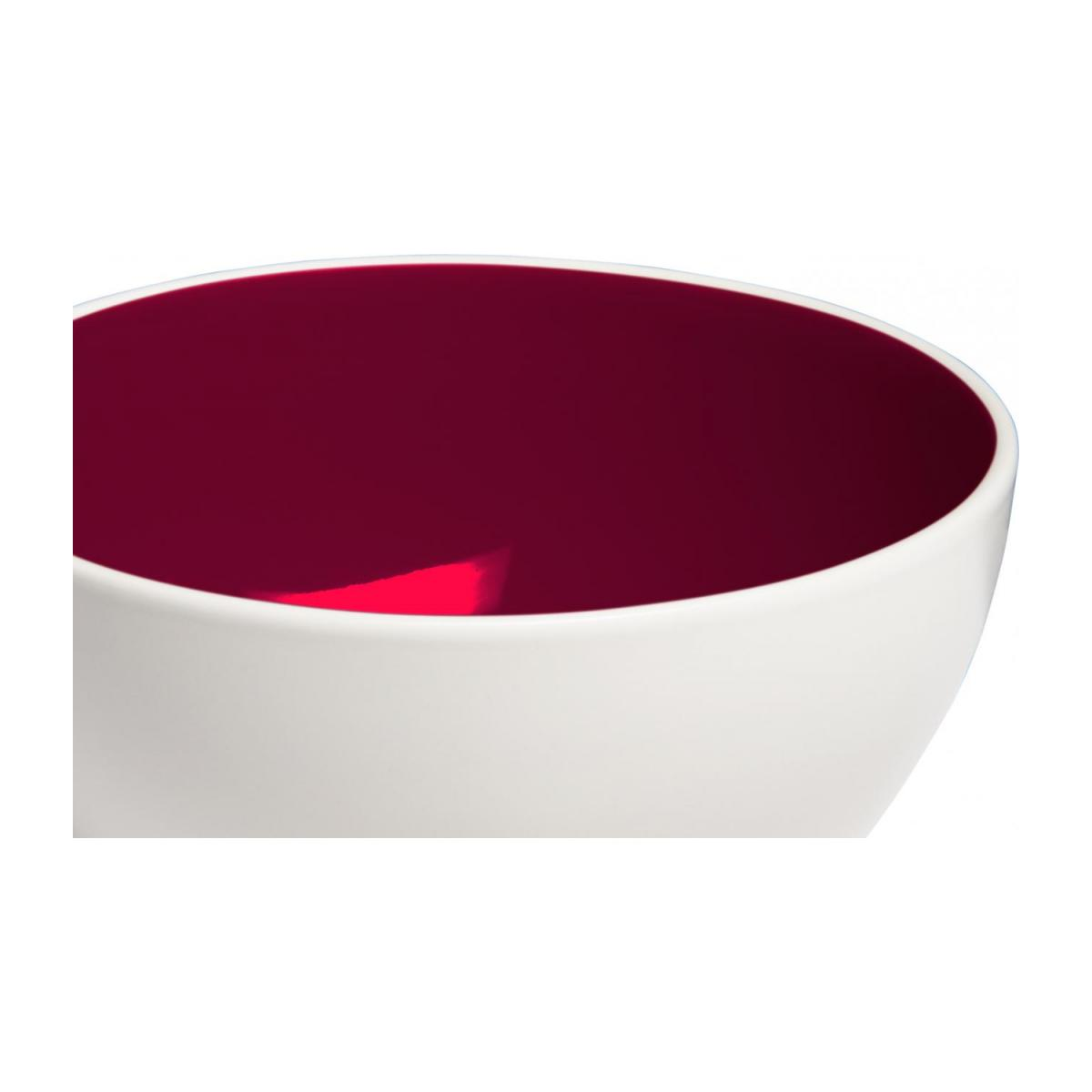 Bowl made of sandstone, white and burgundy n°2