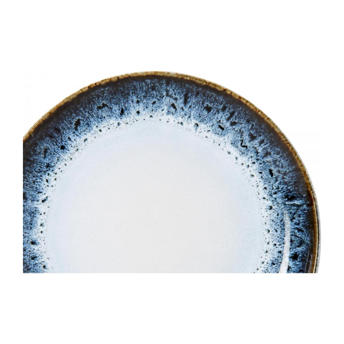 Dessert plate made of sandstone 21cm, white and black n°3