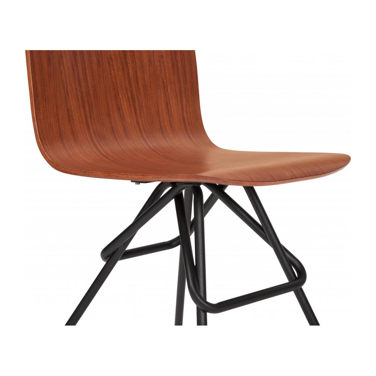 Walnut chair and black steel legs n°6