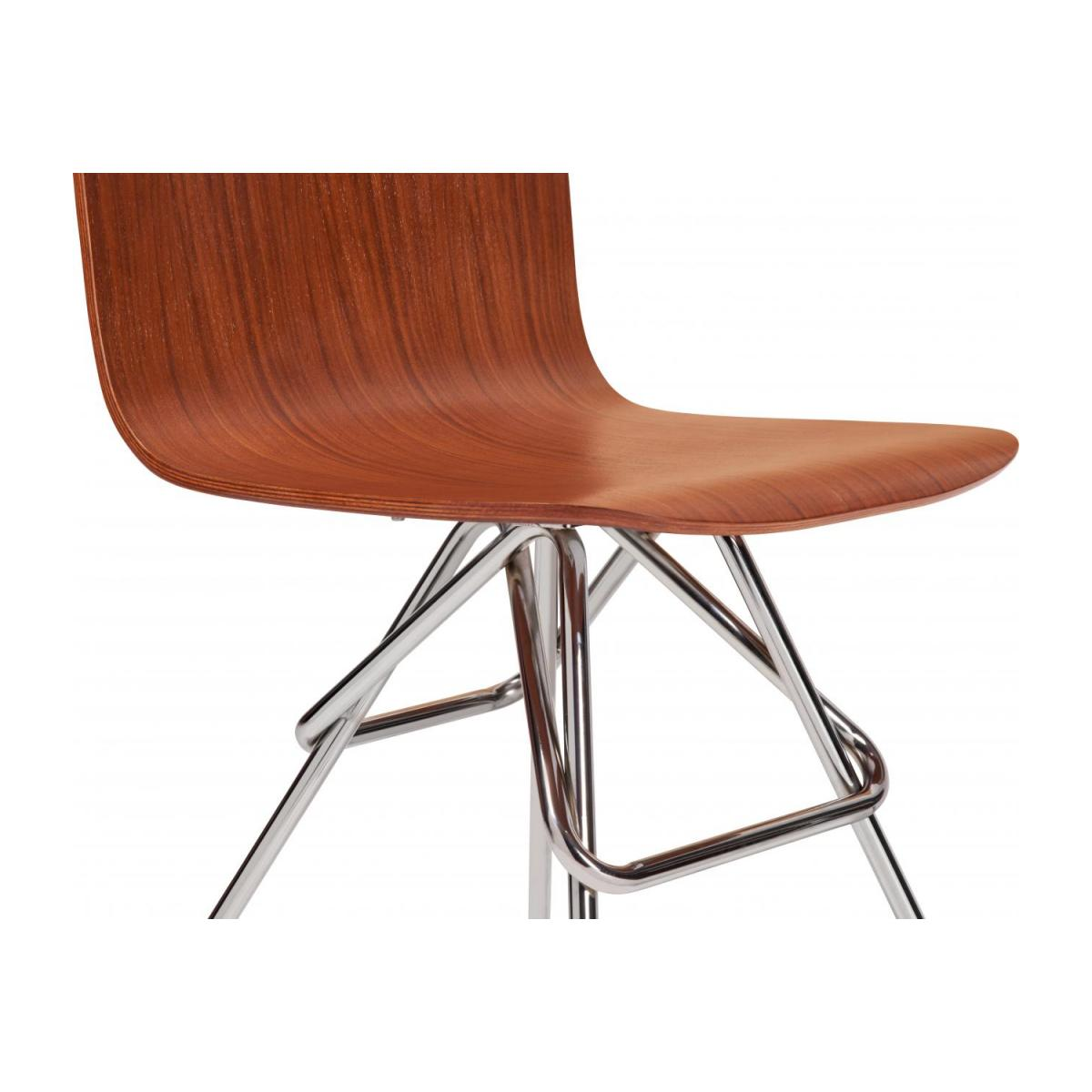 Walnut chair and chrome steel legs n°6