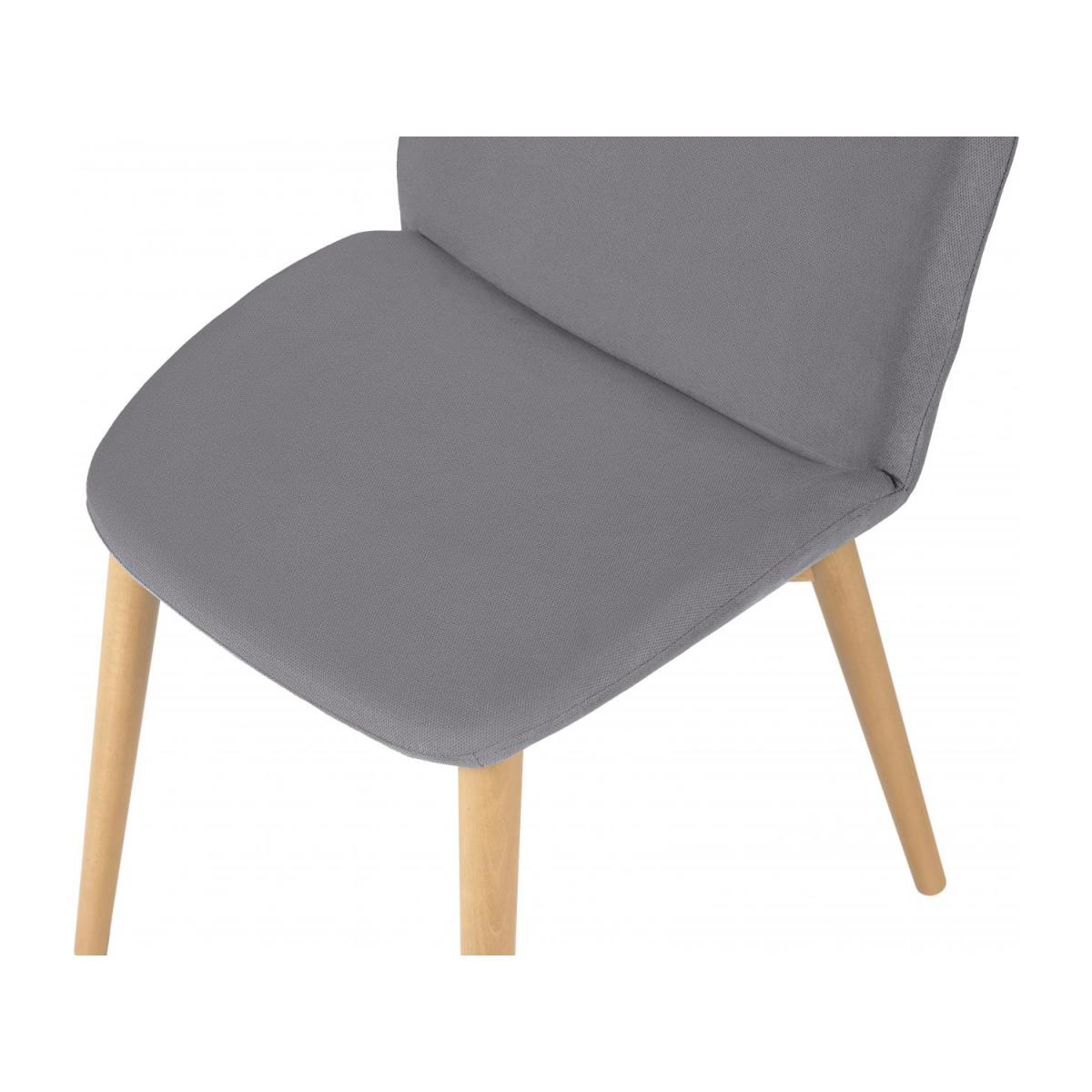 Chair with grey fabric cover and beech wood legs n°5