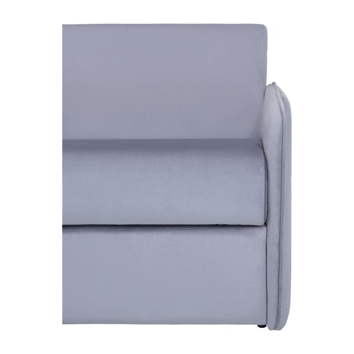 Grey velvet 3 seat fold-out sofa n°8