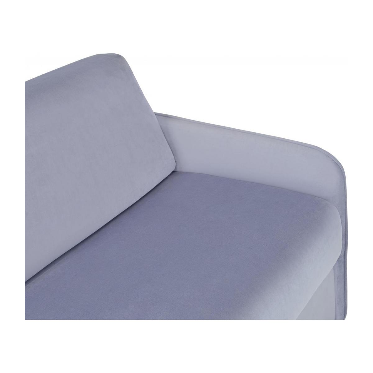 Grey velvet 3 seat fold-out sofa n°7