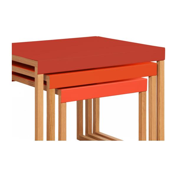 KILO/NESTED TABLE RED SS18 n°7