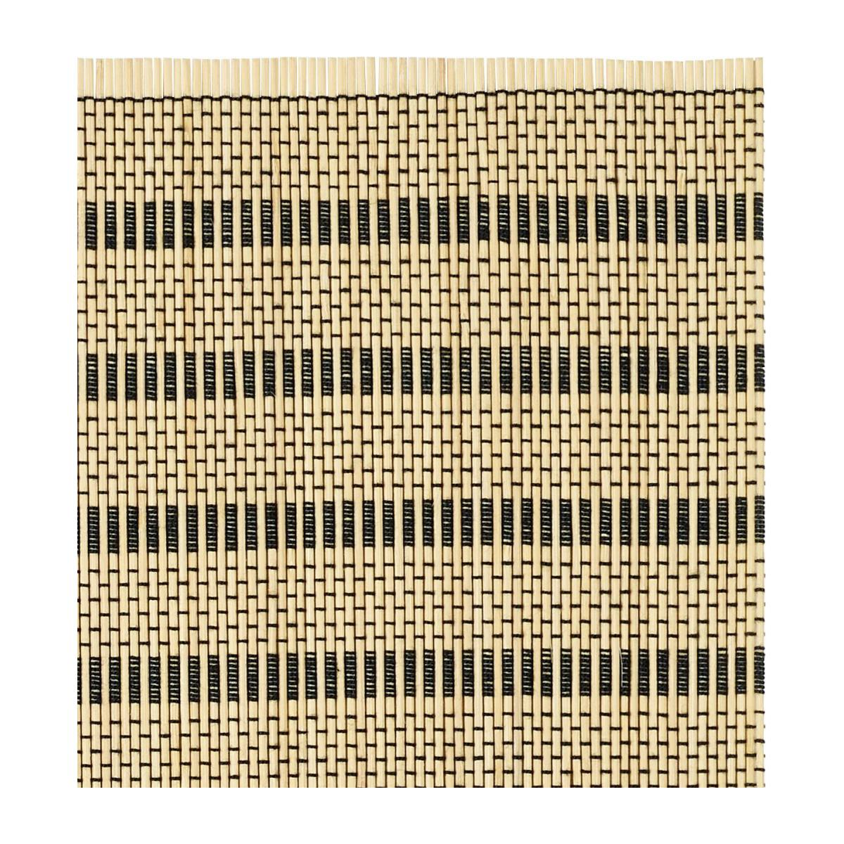 Set of 2 Black Patterned bamboo Placemats n°3