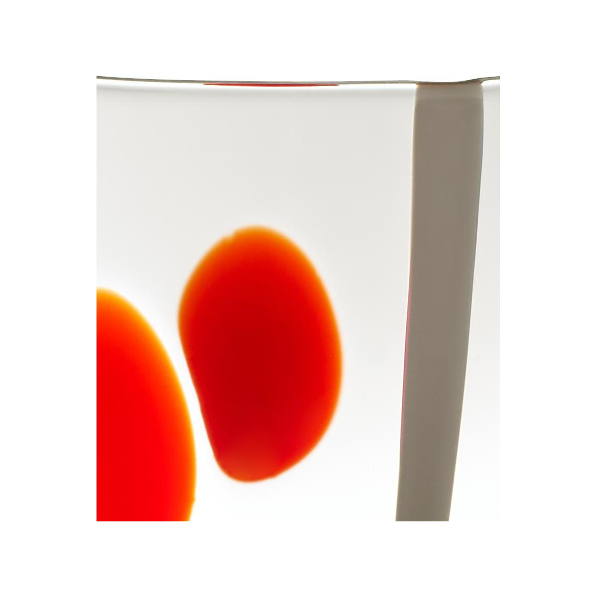 Red and White Patterned Small Glass Tumbler n°2