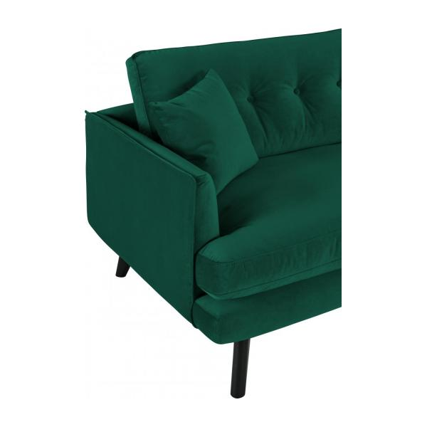 alban canap 3 places velours vert habitat. Black Bedroom Furniture Sets. Home Design Ideas