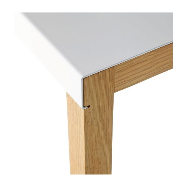 Accent table made of metal and solid oak n°4