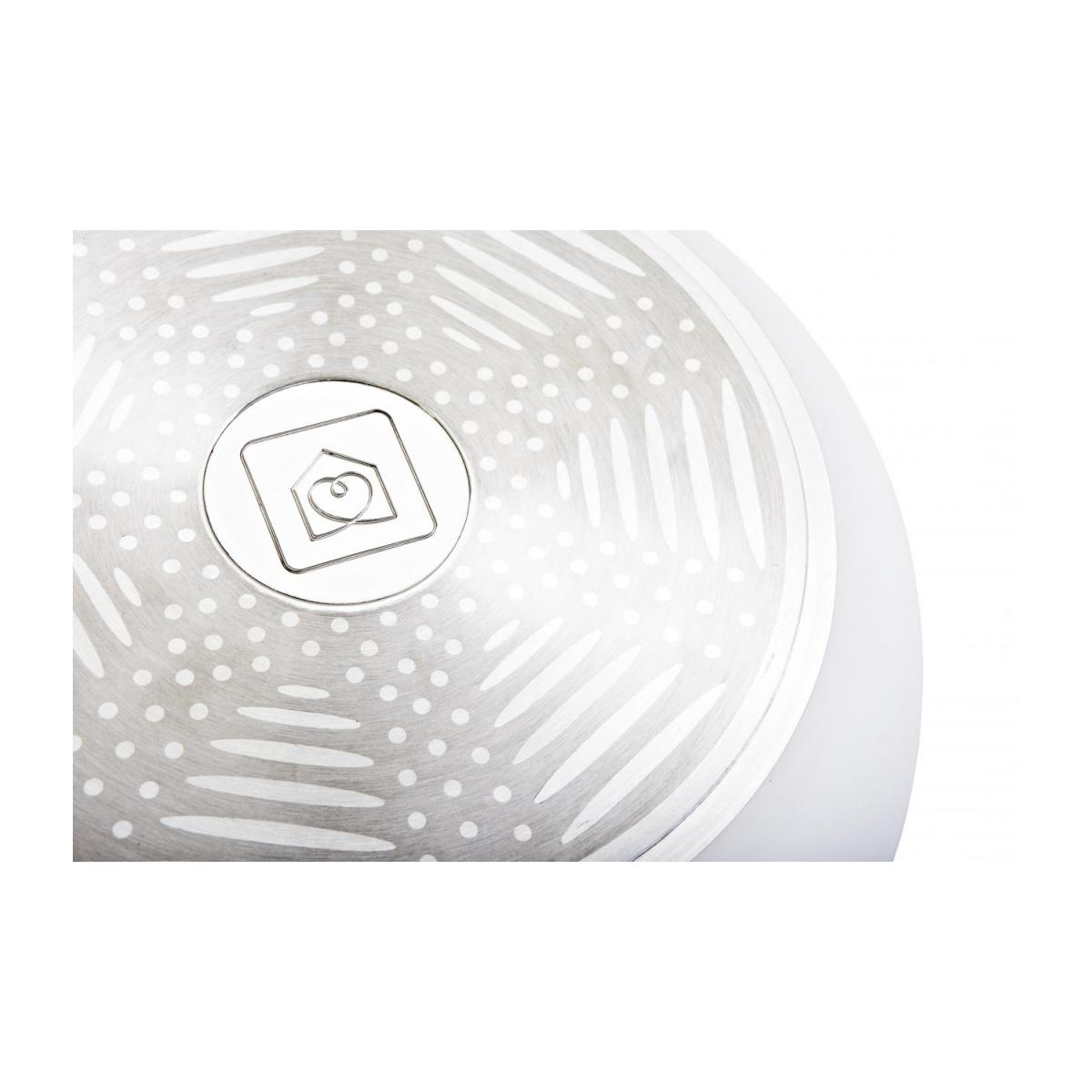 White aluminium pan 28 cm with inner coating in ceramic n°4