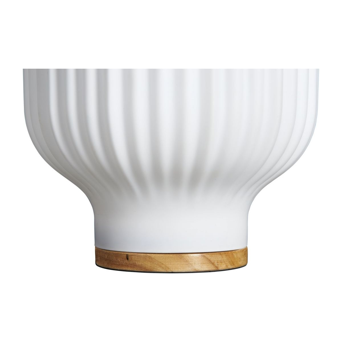 Lampe de table 19cm en verre blanc n°4