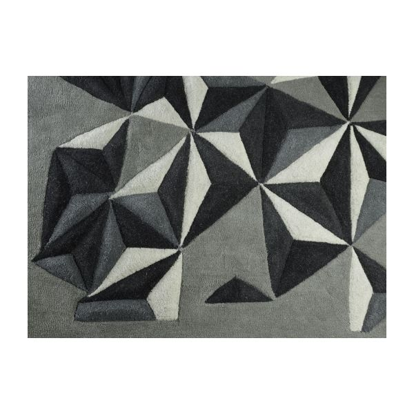 Hand-tufted wool rug 170x240 cm n°6