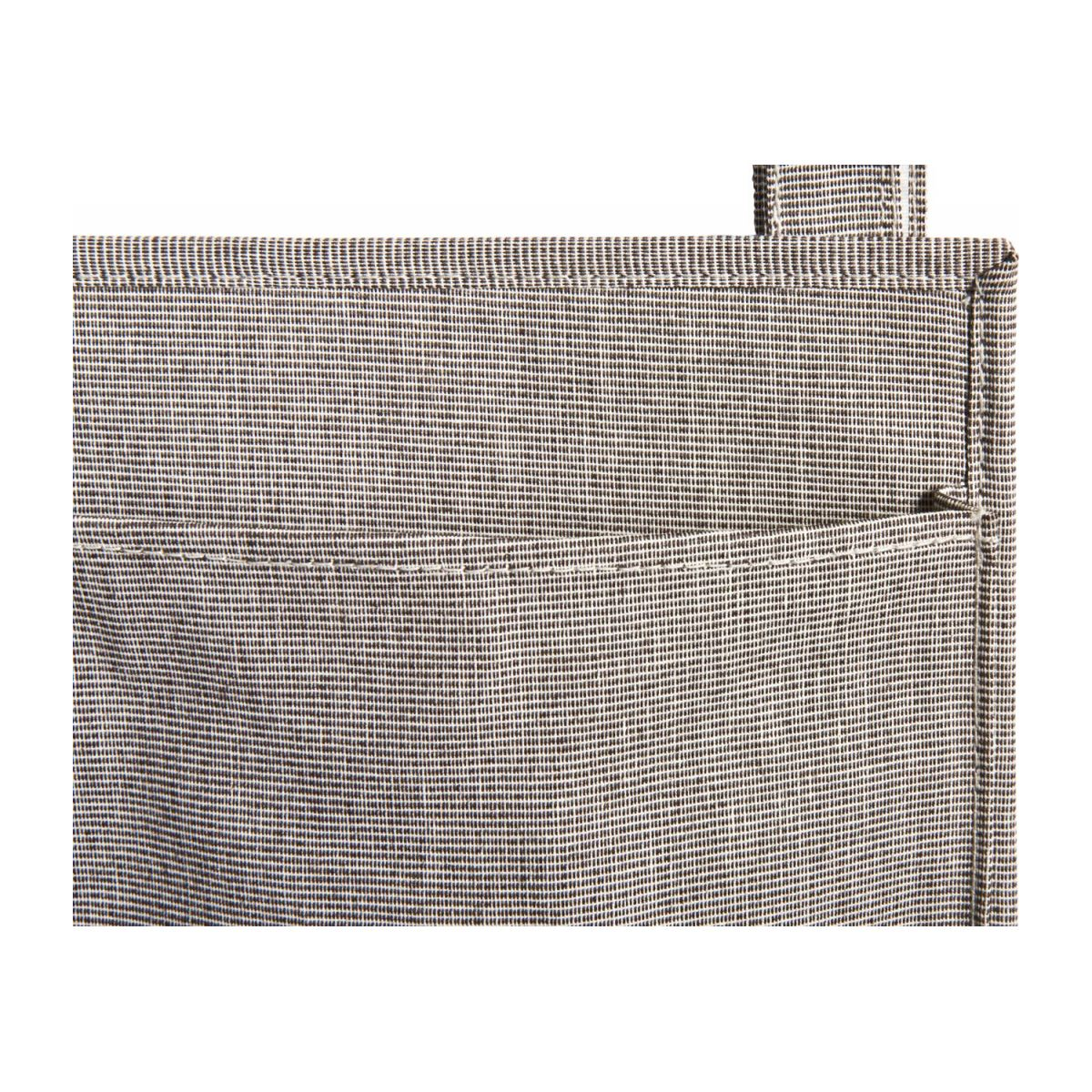 Wall modular storage with pockets, grey fabric and bamboo n°6