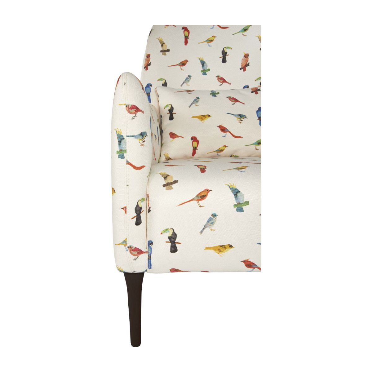 Fabric armchair, birds pattern n°7