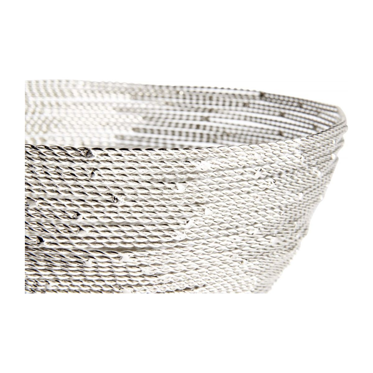 Small nickel twisted wire bowl n°3