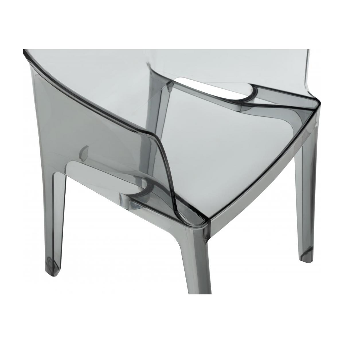 Smokey grey armchair in polycarbonate n°6